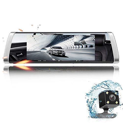 DashCam Spiegel mit AHD Backup-Kamera-Kit, Eyesun Cam StreamingMedia 7Full Touchscreen,AutoKamera 1080P FHD Frontkamera und 720P Rückfahrkamera mit Crystal Bildqualität,WDR