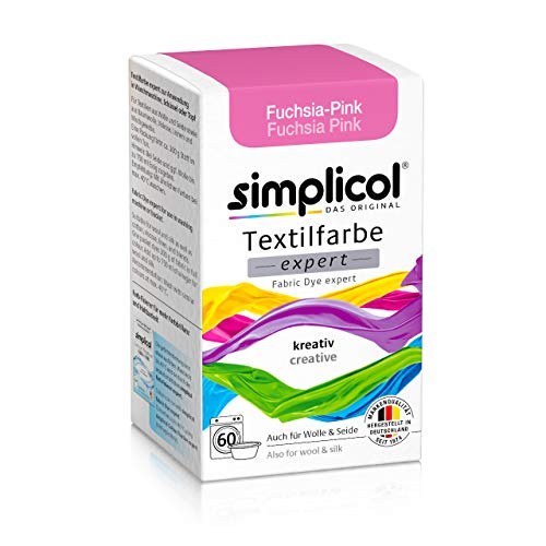 Simplicol Textilfarbe Expert für Kreatives, Einfaches, Fuchsia-Pink 1705 Waschmaschine Oder manuelles Färben