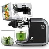 Slow Juicer de Vandenberg: exprimidor silencioso para verduras y frutas [150 W] - Exprimidor eléctrico con función inversa, que conserva las vitaminas - Con cepillo de limpieza