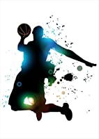 igsticker ポスター ウォールステッカー シール式ステッカー 飾り 594×841㎜ A1 写真 フォト 壁 インテリア おしゃれ 剥がせる wall sticker poster 001170 スポーツ バスケットボール ダンク