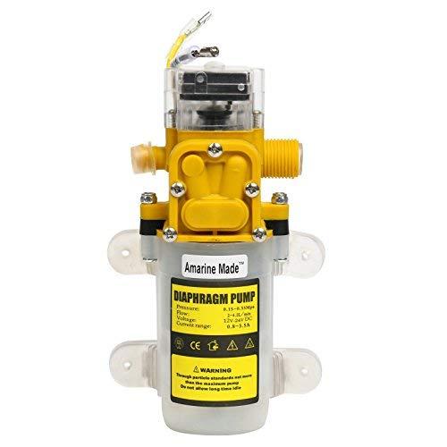 Amarine Made Automatische Hochdruck-Membran-Wasserpumpe, DC 12 V, 3,6 l/min, für allgemeine Industrie, Fahrzeuge, Landwirtschaft, Boot
