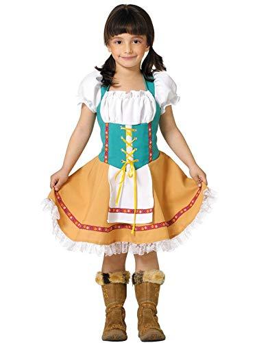 DISBACANAL Disfraz Tirolesa Infantil - -, 10 años