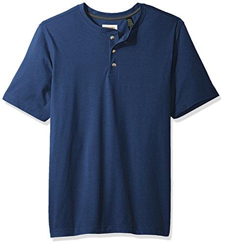 Wrangler Authentics Men's Short Sleeve Henley Tee, dark denim, X-Large