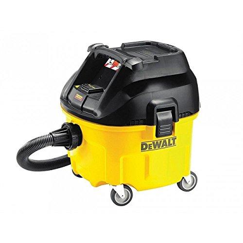 DeWalt Industrie Nass- und Trockensauger/ Bausauger (1,400 Watt, Klasse L, 32 mm Saugschlauch (4 m Länge) Behältervolumen 30 l, inkl. AirLock-Adapter und Saugsack) DWV900L