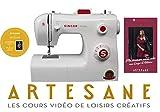 Singer Initiale Machine à Coudre Blanche 18 Points Ajustables avec 2h de Cours de Couture Artesane Inclus