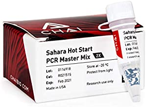 Sahara Hot Start PCR Master Mix (2 x 1 mL) – Extremely Thermal Stable, High Efficiency 2X Taq MasterMix for Endpoint or Probe-Based Real-Time PCR | High GC | 200 Reactions