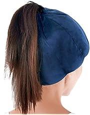 ICEHOF Koelmuts met 8 koelaccu's (zachte stof), met haaropening en elastiek, verkoelende gelmuts voor hoofdhuid bij chemotherapie, Ice Cap migraine hoofdpijn
