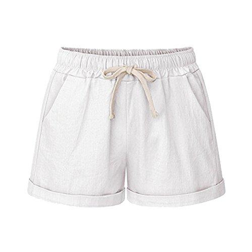 Women's Drawstring Elastic Waist Shorts Casual Comfy White SweatShorts Tag 5XL-US 18