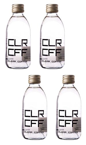 Clear Coffee: First Colorless Coffee Drink In The World - 6.7 Fluid Ounce (200ml) Glass Bottle (Pack of 4)