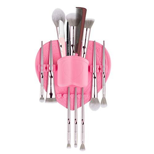 PIXNOR Brosse de Maquillage en Silicone Séchage Rack Brosses de Maquillage Support Mural Support de Brosse en Silicone Couleur Aléatoire