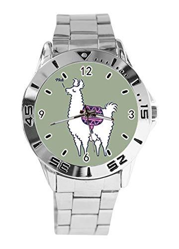 Reloj de Pulsera analógico con diseño Azteca Rosa con diseño de Alpaca,...