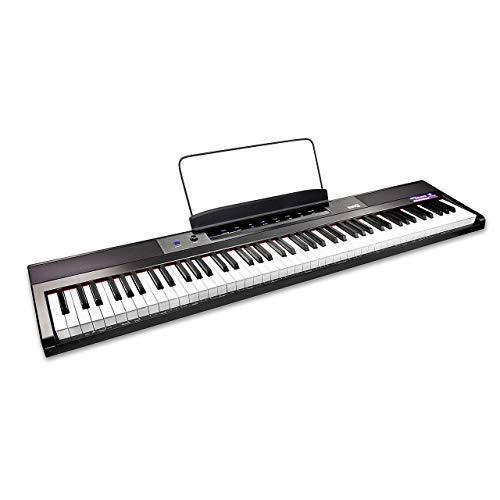 Clavier de piano numérique 88 touches RockJam Piano avec touches semi-lourdes pleine grandeur,...