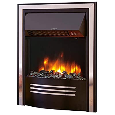 "Celsi Accent Infusion Black 16"" Inset Electric Fire"