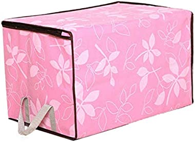 AKIMPE Storage Organizer Large Cubes Collapsible Fabric Foldable Containers Bins Tote Box Basket with Dual Handles for Cloth