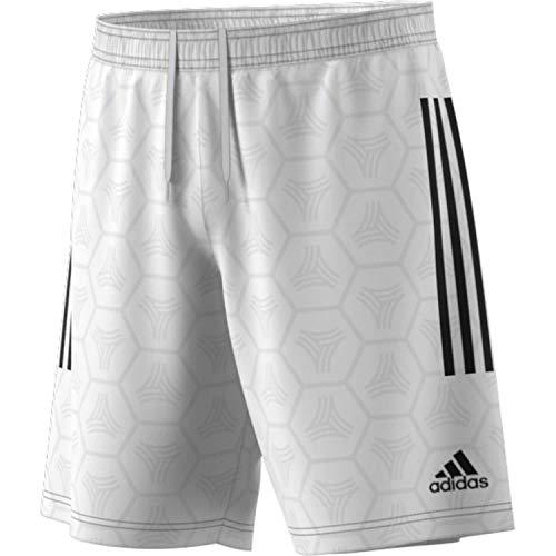 adidas Herren Tan Jaquard Short, White, L