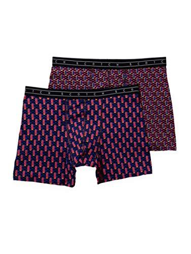 Scotch & Soda Herren Classic All-Over Printed Boxer Short Boxershorts, Mehrfarbig (Combo A 0217), Large (Herstellergröße: L)