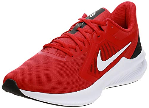 Nike Mens Downshifter 10 Running Shoe, University RED/White-Black, 44.5 EU