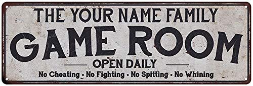 Personalized Game Room Sign Vintage Decor Wall Signs Gameroom...