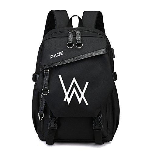 YUNMEI Cotton Candy DJ Backpack Luminous new Alan Walker Alan Walker faded backpack male student school bag electronic music DJ backpack tide
