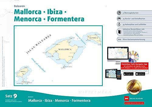 Sportbootkarten Satz 9: Balearen (Ausgabe 2020/2021): Mallorca - Ibiza - Menorca - Formentera