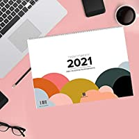 Design Wandkalender A4 quer (2021): Praktischer Kalender fuer ein trendiges Interior