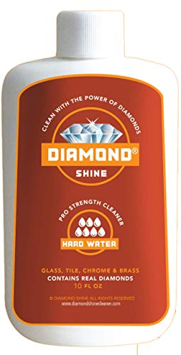 Diamond Shine 10 oz Professional Hard Water Cleaner & Spot Remover Glass Shower Door Mineral Stains Stainless Bathroom Build-up