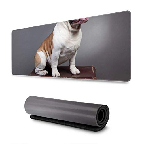 Gaming Moursepad Happy Suitcase Dog Puppy Large Mouse Pad Keyboard Pad Game Mouse Mat For Office Home,30 X 80 cm