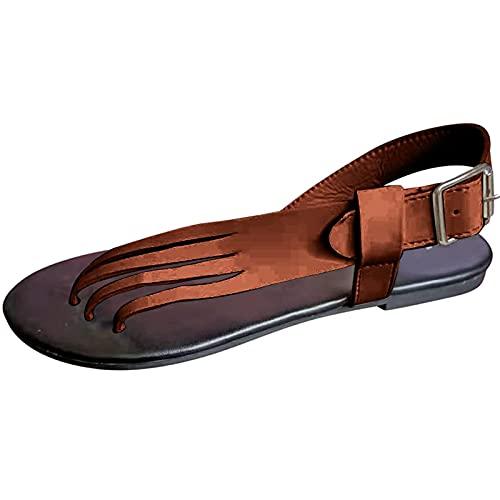 Unisex Adult Flip Flops with Toe Separator Sandals Bathing Non-Slip Comfortable Sandals Beach Pool Surfing Shoes Sandalen Damen Flache Sommer Strandschuhe Damen Clip Toe Sandalen