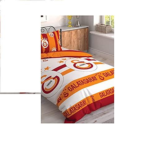 Galatasaray - Juego de cama con licencia, color blanco y rojo