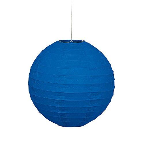 "10"" Round Royal Blue Paper Lantern"