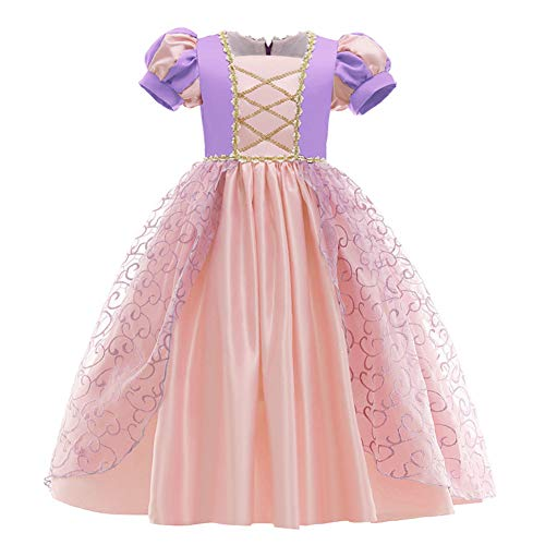 OBEEII Rapunzel Disfraz Carnaval Traje de Princesa Cuentos Infantiles para Halloween Navidad Fiesta Ceremonia Aniversario Cosplay Costume para Nias Chicas