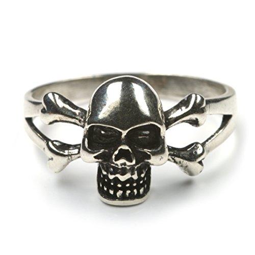 Drachensilber Totenkopf Ring 925 Silber Silberring Damenring Herrenring Motiv Totenkopf Gr 64