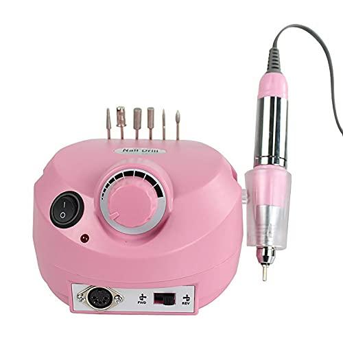QTCD Elektrische Nagelfeile, professioneller elektrischer Nagelschleifer, elektrische Maniküre-Schleifmaschine mit 0-2500 U/min, Nagelschleifer zum Peeling, Schleifen, Polieren, Nagelentfernung