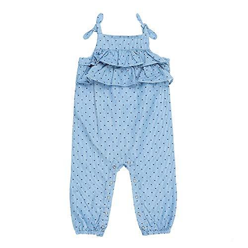 Feetje Salopette pour bébé fille avec imprimé cœur Alloverprint Summer Denim - Bleu - 6 mois