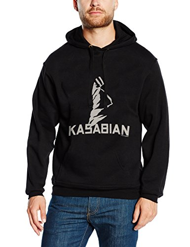 Kasabian Ultra Face Sweat-Shirt à Capuche, Noir (Black), Small Homme
