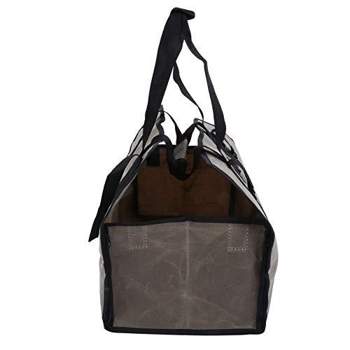 DFGH Brennholzträger, Wasserdichter Brennholz-Träger-Tasche Wachered Canvas-Protokoll-Taschenhalter Für Outdoor Campinggray