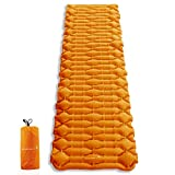 Greensummer Inflatable Camping Sleeping Pad, Camping Air Sleeping Pad Mat Lightweight Backpacking Pad, Waterproof Ultralight Inflatable Sleeping Mat for Hiking Traveling Outdoor Trip