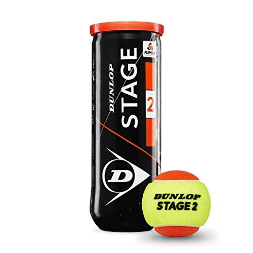 Dunlop Stage 2 3pet Tennisbälle, gelb/orange, Einheitsgröße