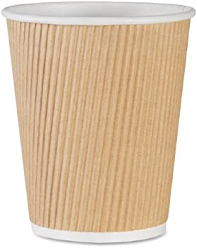 500-Pack Genuine Joe 10oz Insulated Ripple Hot Cup