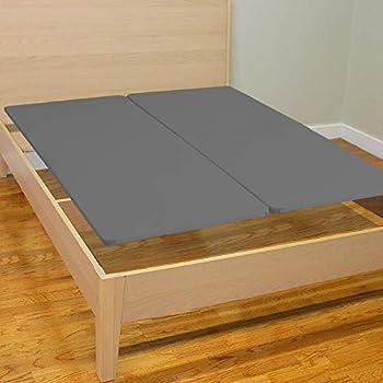 Mattress Solution Wood Split Bunkie Board/Slats,Mattress Bed Support,Fits Standard Queen Grey