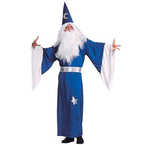 NET TOYS Costume d'enchanteur Gandalf Mage déguisement Merlin enchanteur déguisement de Magicien Carnaval T. M 46/48