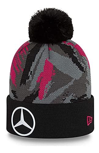 New Era - Mercedes eSports Replica AOP Knit Bobble Beanie - Negro, Negro , Talla única