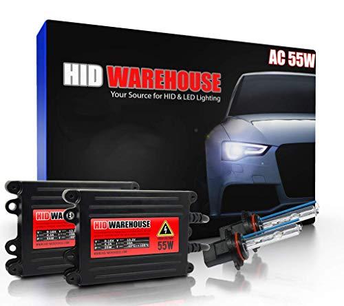 HID-Warehouse 55W AC Xenon HID Lights with Premium Slim AC Ballast - 9005 8000K - 8K Medium Blue - 2 Year Warranty