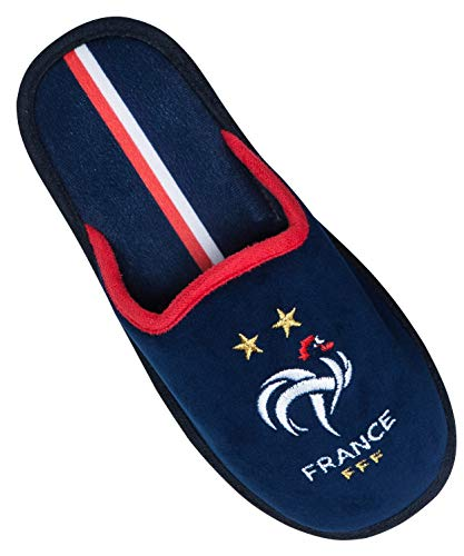 Equipe de FRANCE de football Chaussons FFF - Collection Officielle Taille Homme 41