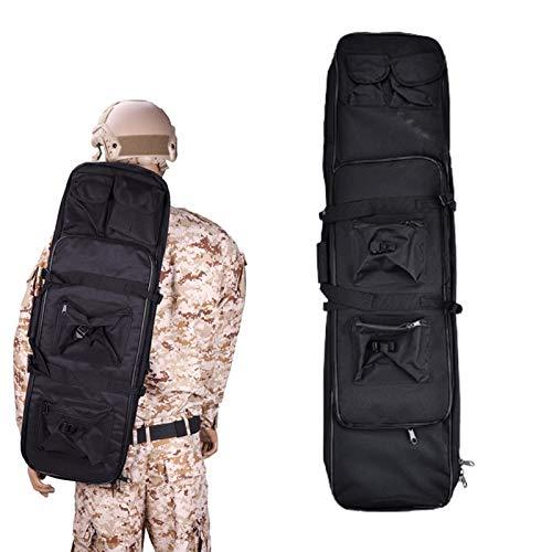 Eortzzpc Zaino Custodia per Borsa per Fucile Doppio, Custodie per Carabine con 4 Tasche Esterne per Conservare Armi da Collezione (Color : Black, Size : 100cm)