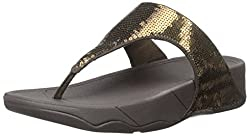 Bronze Electra Flipflop Slippers with Sequins