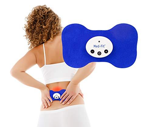 Kabelloses wiederaufladbares Mini-TENS- und Muskelstimulationsgerät von Med-Fit® – zur Behandlung von Rücken-, Ischias-, Nacken-, Knie-, Arthritis- und Muskelschmerzen