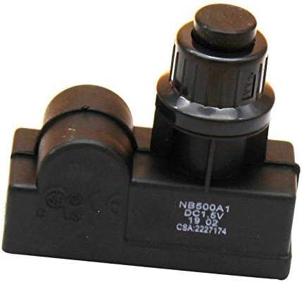 MENSI Generador de chispa de encendido con pilas AA actualizado para parrilla de gas, estufa, hoguera de 22 mm agujero de montaje solo una salida