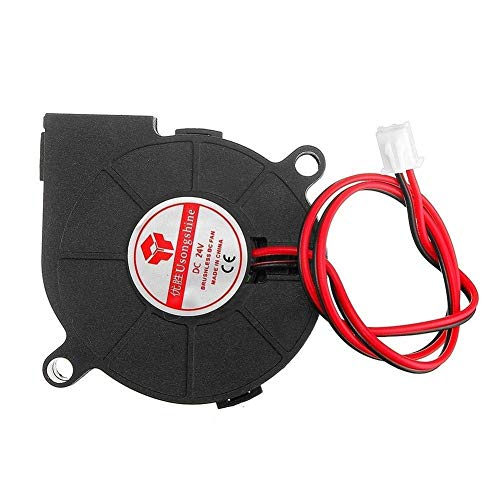 GzxLaY 3D Printer Monitoring Power 0.15A 24V 5015 Sleeve Bearing Brushless Turbo Cooling Fan with 2Pin XH2.54 Wire for 3D Printer