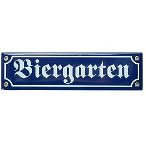 EMAILLESCHILD BIERGARTEN 35181